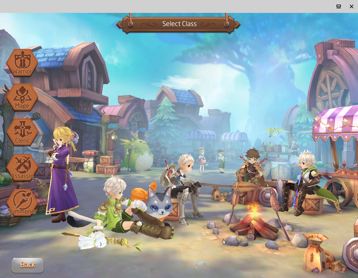 Figure 24 - Character select screen of Tales of the Wind