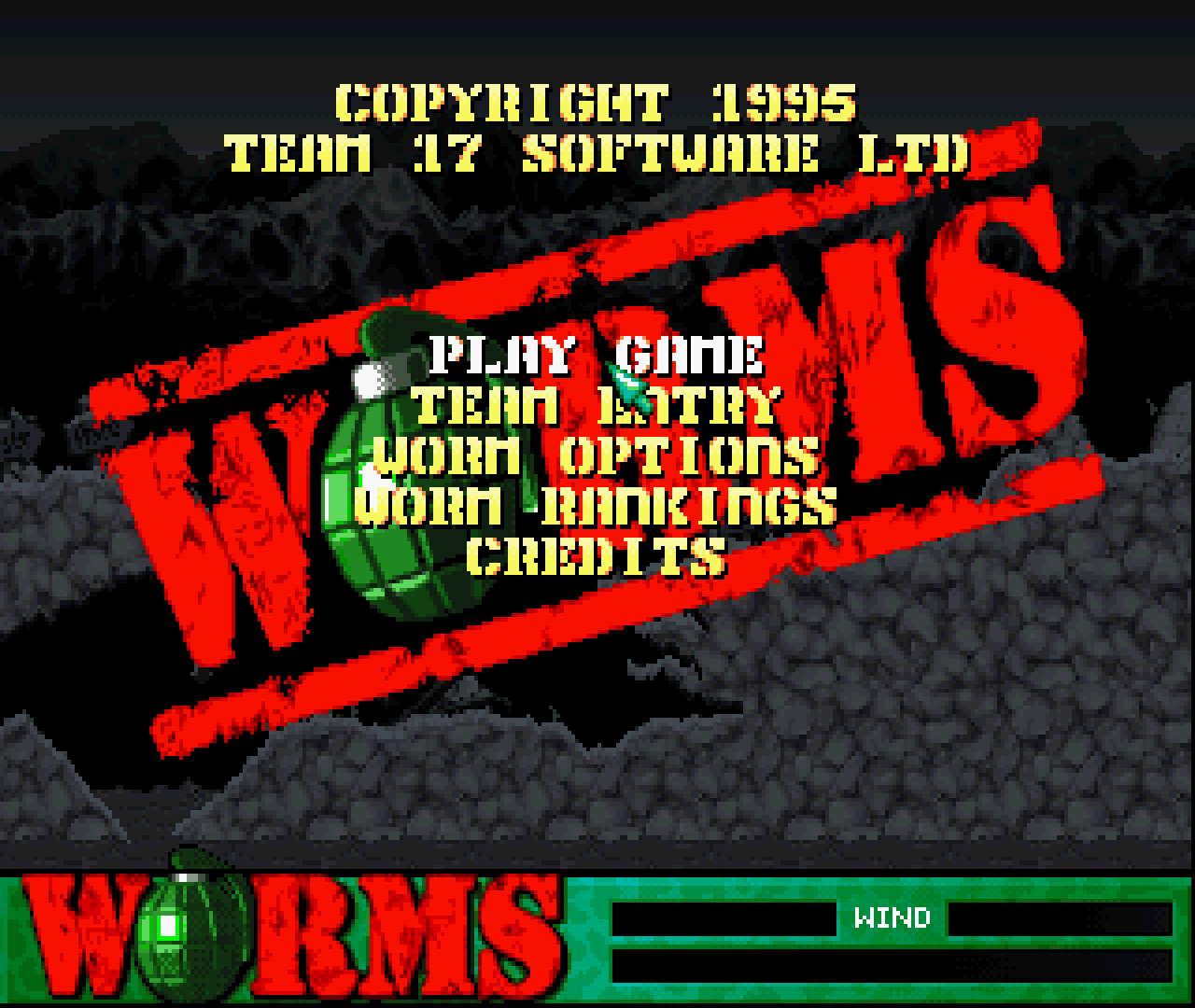 Figure 35 - Worms Title Screen on the Sega Saturn