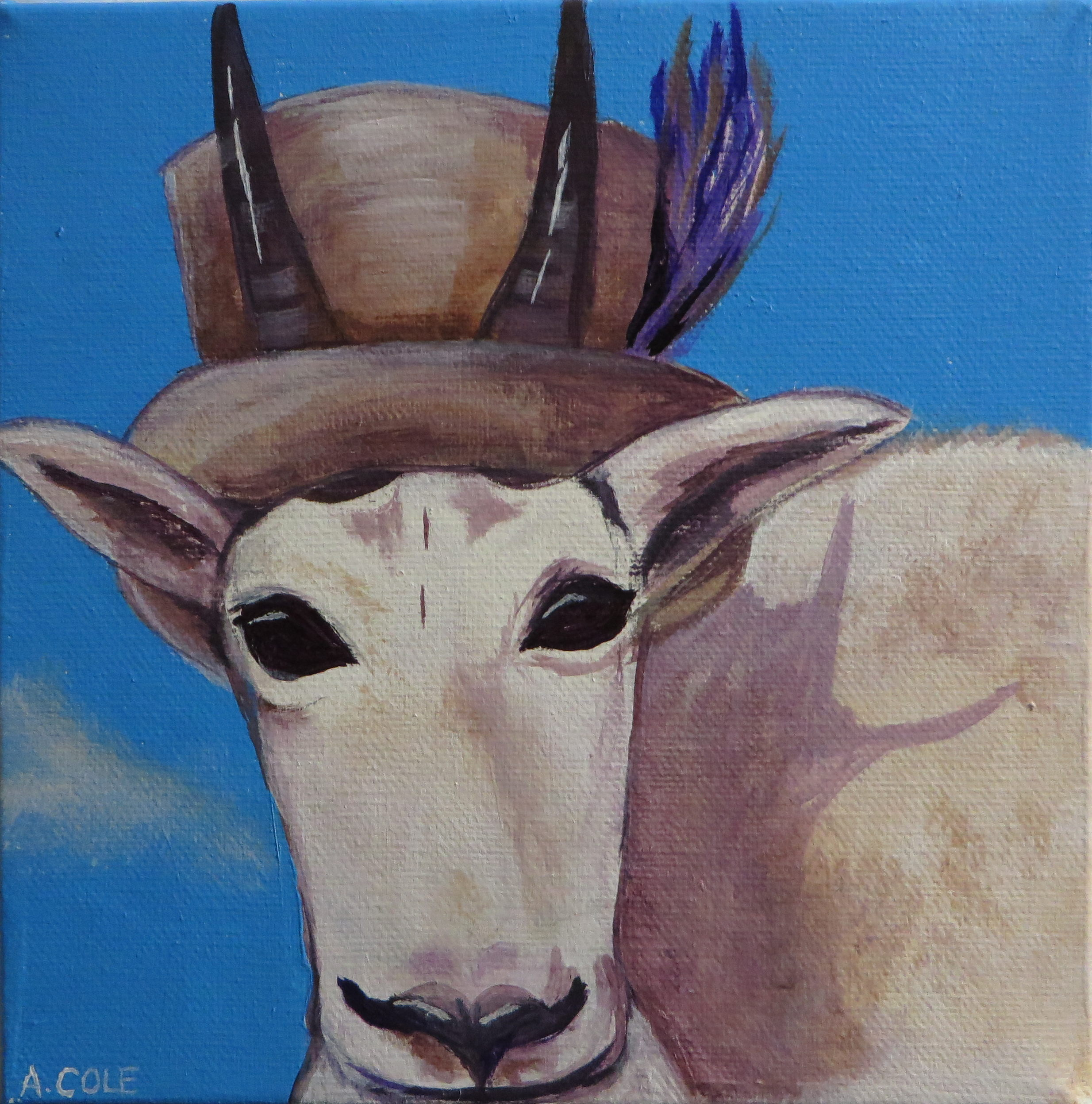 Figure 2 - Artwork by Andrea called A Tragically Hip Mountain Goat