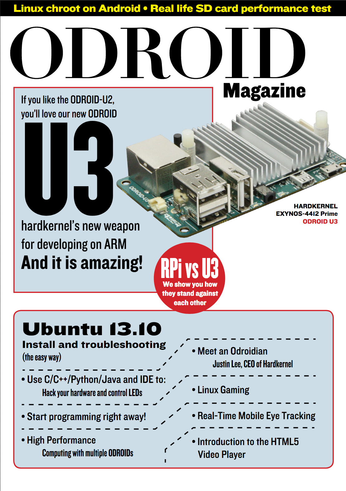 Meet An Odroidian Justin Lee Ceo Of Hardkernel Odroid Magazine Series Figure 3 13 Comparison Basic And Circuits First Issue Cover