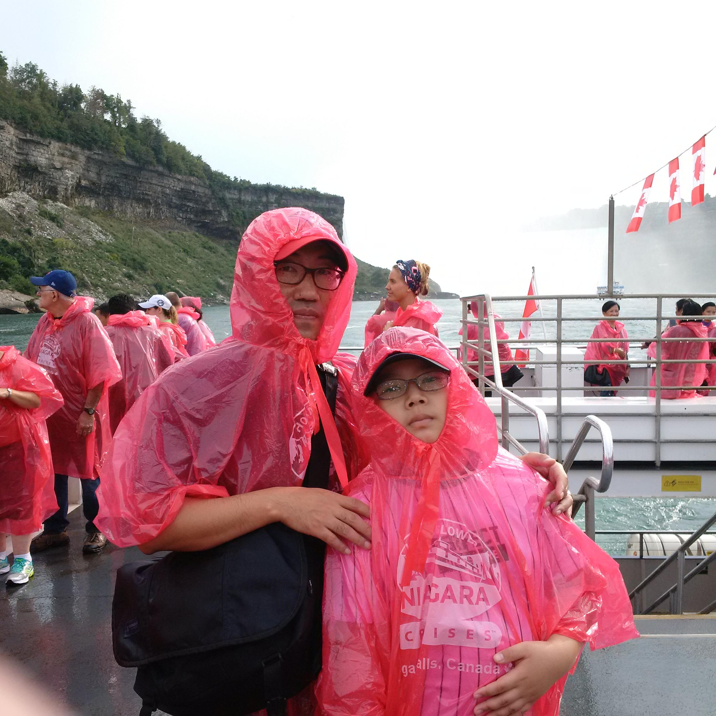Figure 1 - Boat tour at Niagara Falls