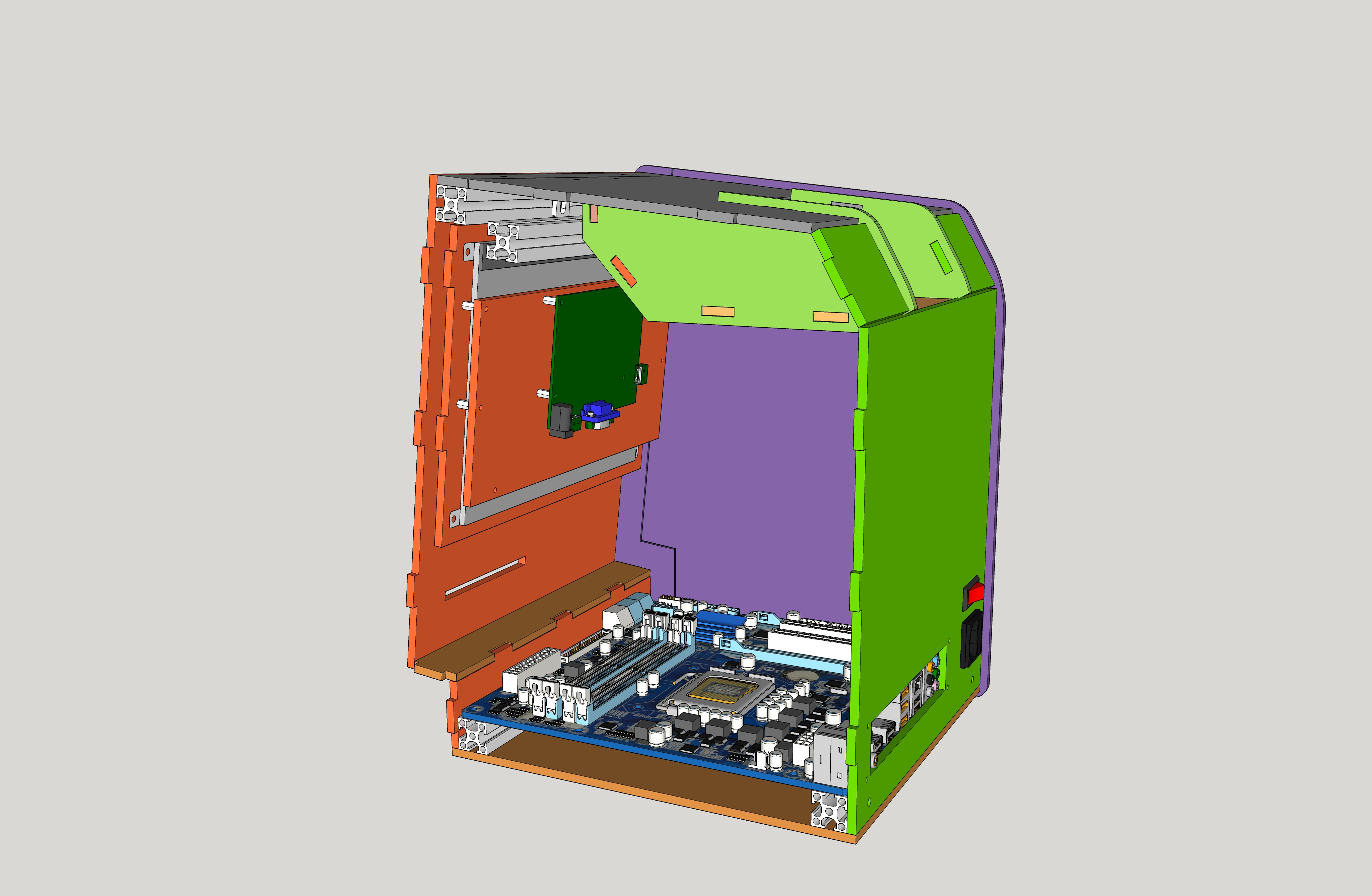 Figure 3 - Design of Apple Classic like case for ODROID