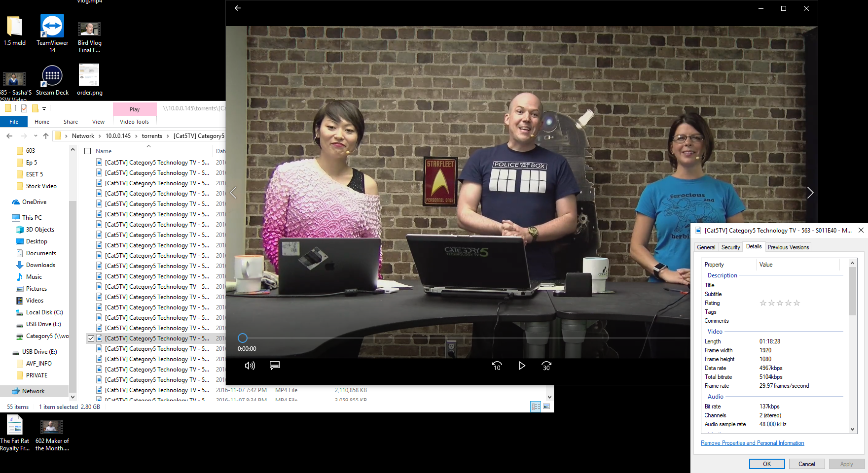 Figure 4 - Performance is exceptional on the ODROID-HC1, and streaming the 1080p video directly to my desktop looks superb