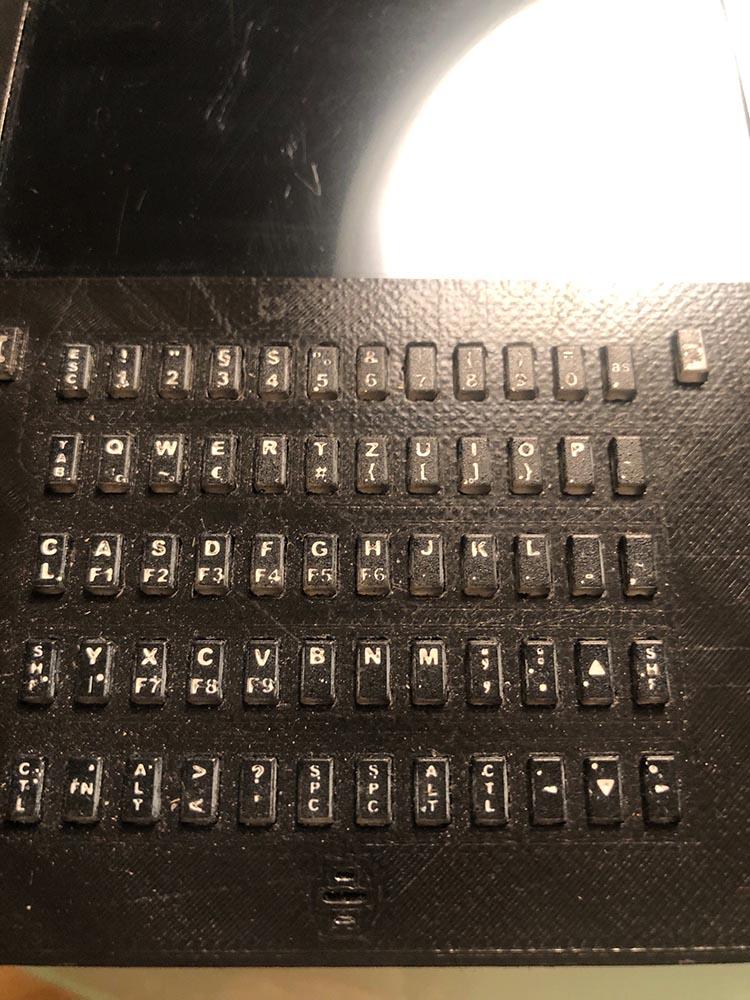 Figure 7 - 2-toned keys