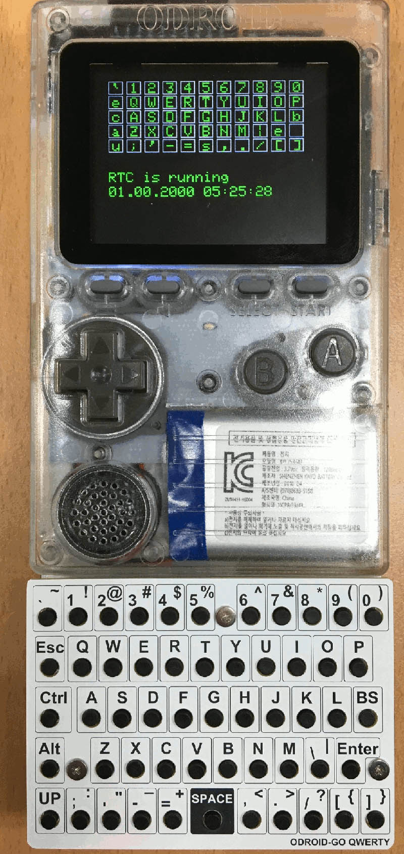 Figure 1 - Keyboard for the ODROID-GO