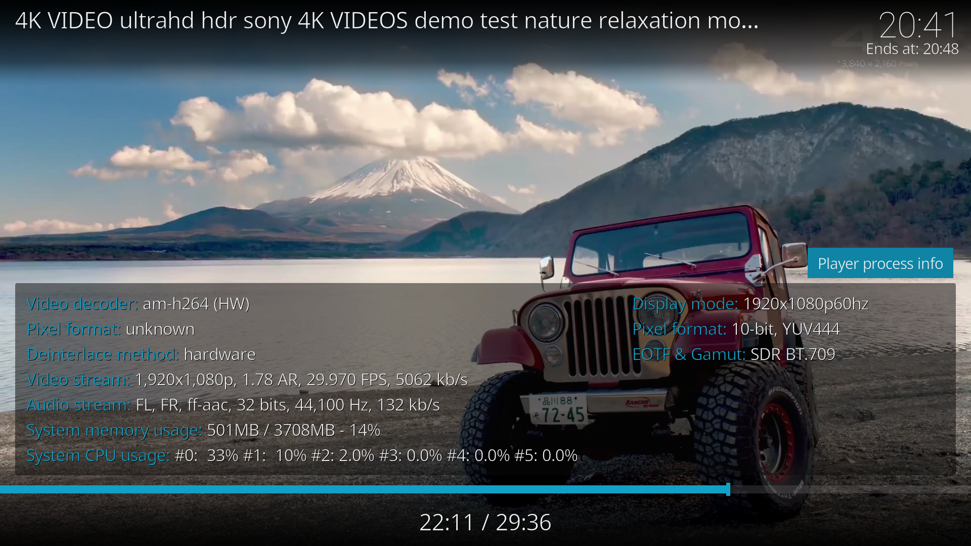 Figure 7: Youtube in 1080p without a hassle. Same can be said for 4K.