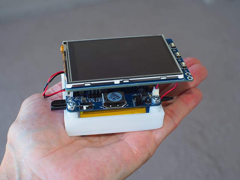 "Figure 1 – A ""pocketable"" palm-sized Linux computer."