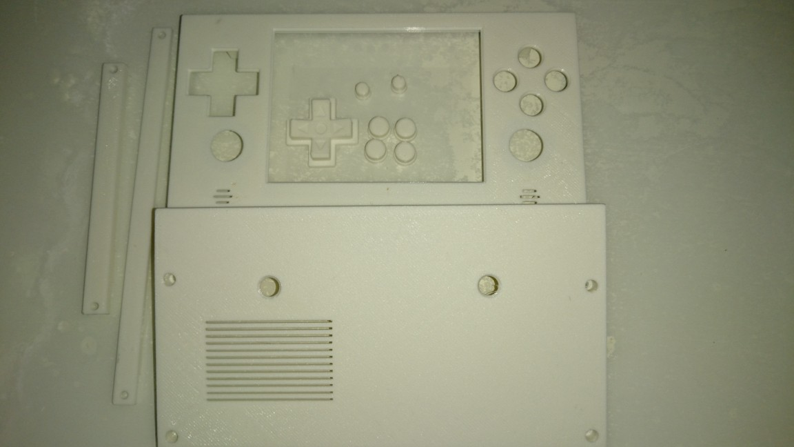 ODROID Figure 1 - Front internal view of the case. The black points are marks to make holes for skewing.