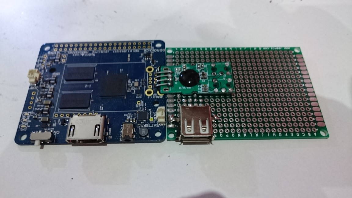 ODROID Figures 11, 12 and 13 - Attaching the extension board to the ODROID