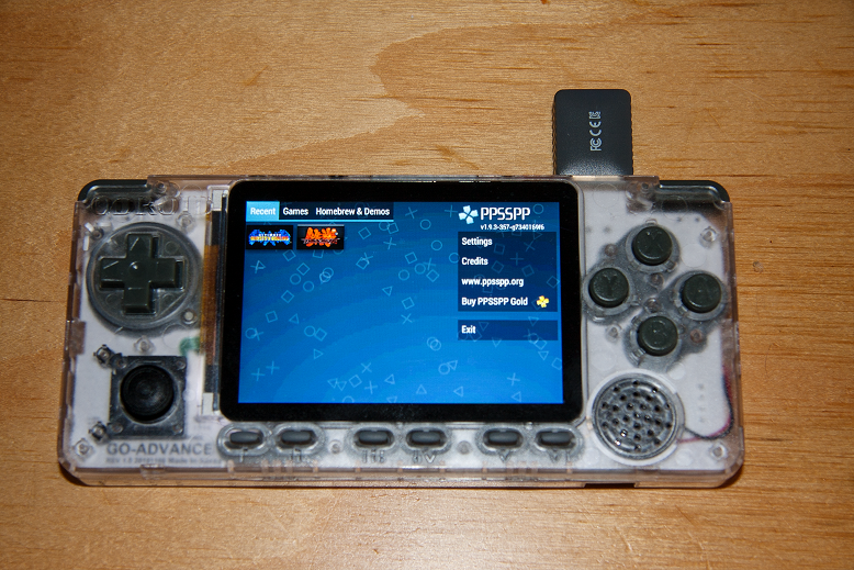 igure 1 - ODROID-Go Advance running PPSSPP using SDL2 with screen rotation
