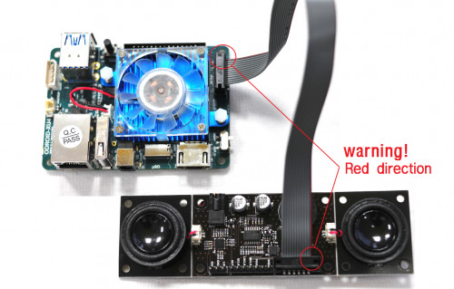 Figure 6 - Attaching the Stereo Boom Bonnet to an ODROID-XU4