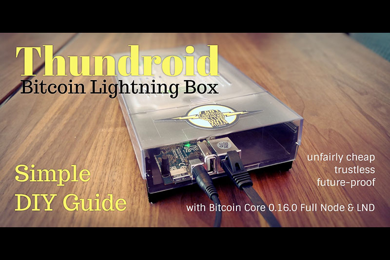 Thundroid: The Perfect Bitcoin Lightning Node | ODROID Magazine