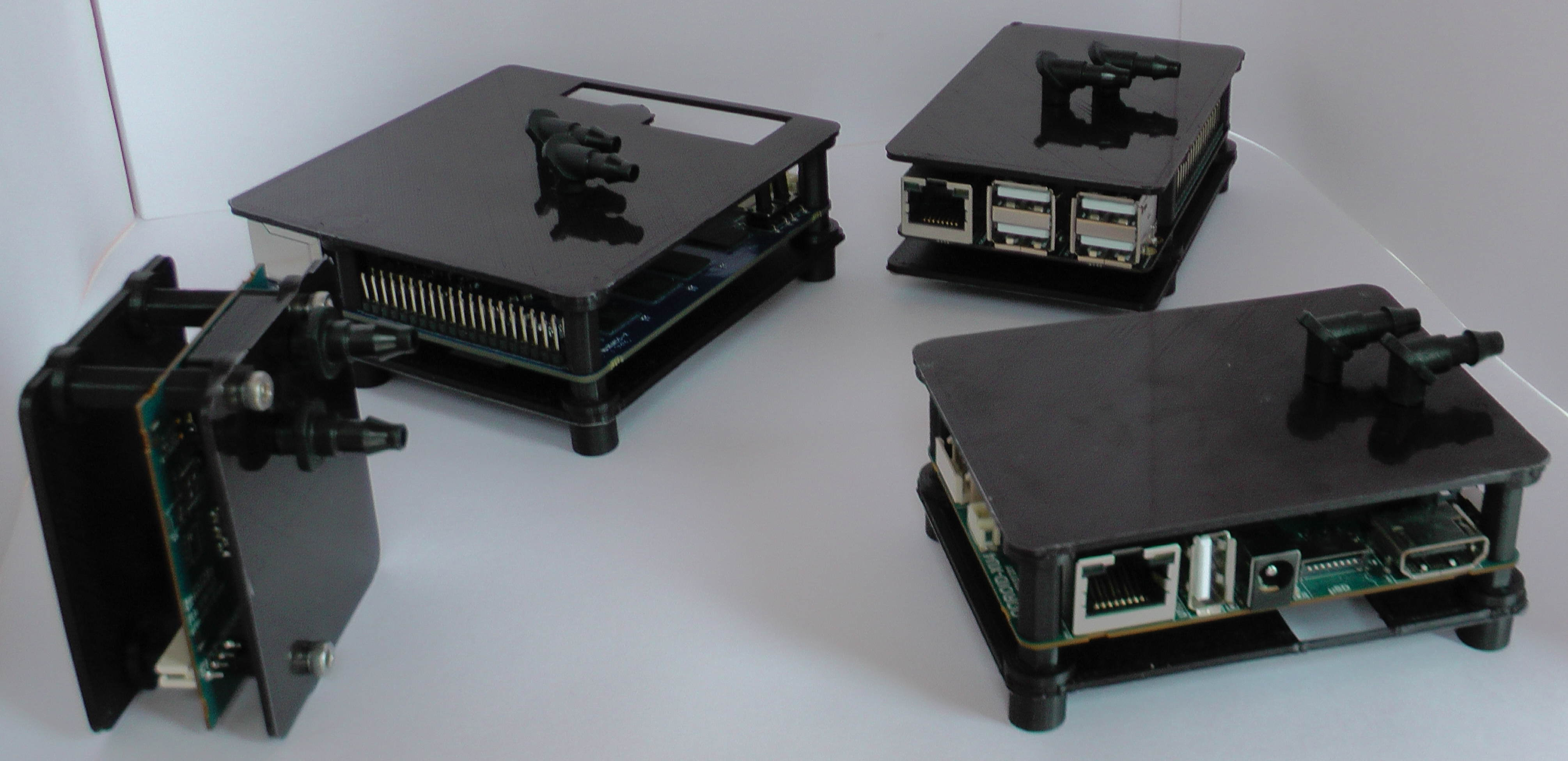 Figure 4 - ODROID Water Cooled Cases (MC1, N1, C2 and XU4)