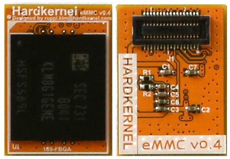 Figure 1 - Hardkernel now offers an orange eMMC module)