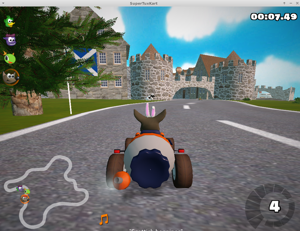 Figure 4 - Super Tux Kart - playthrough