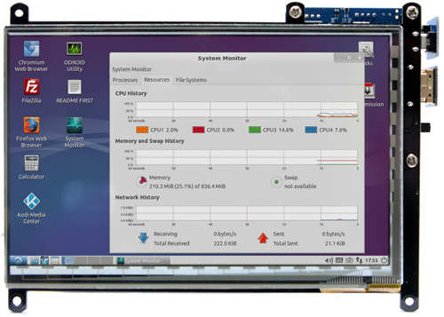 Figure 12 - Touchscreen display